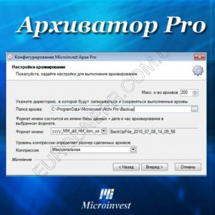 Учетная программа Microinvest Архиватор Pro